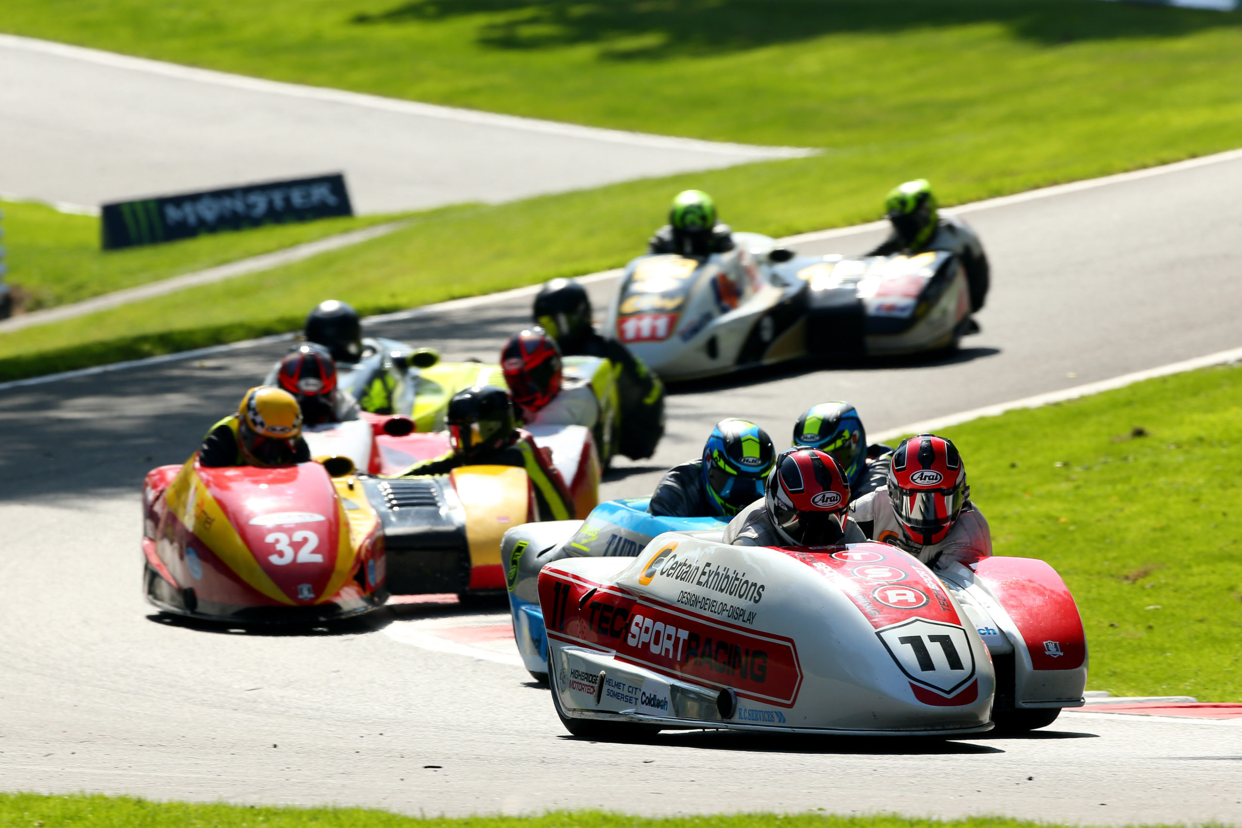 Sidecar racing at Cadwell Park