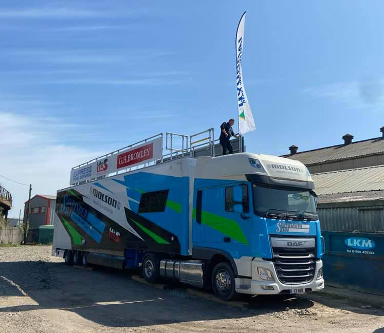 Santander Salt Molson Group liveried truck