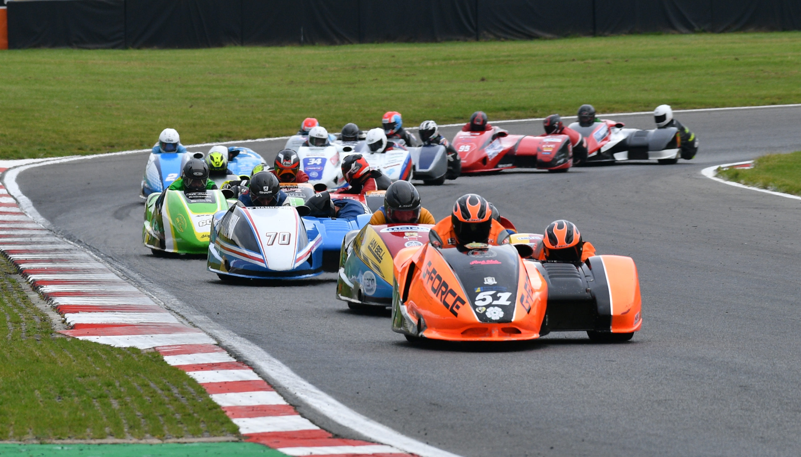 Sidecar action from Brands Hatch