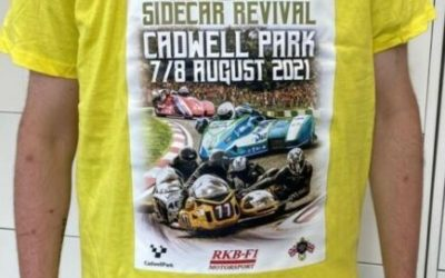 British F1: Cadwell Sidecar Revival 2021 T-Shirts on sale